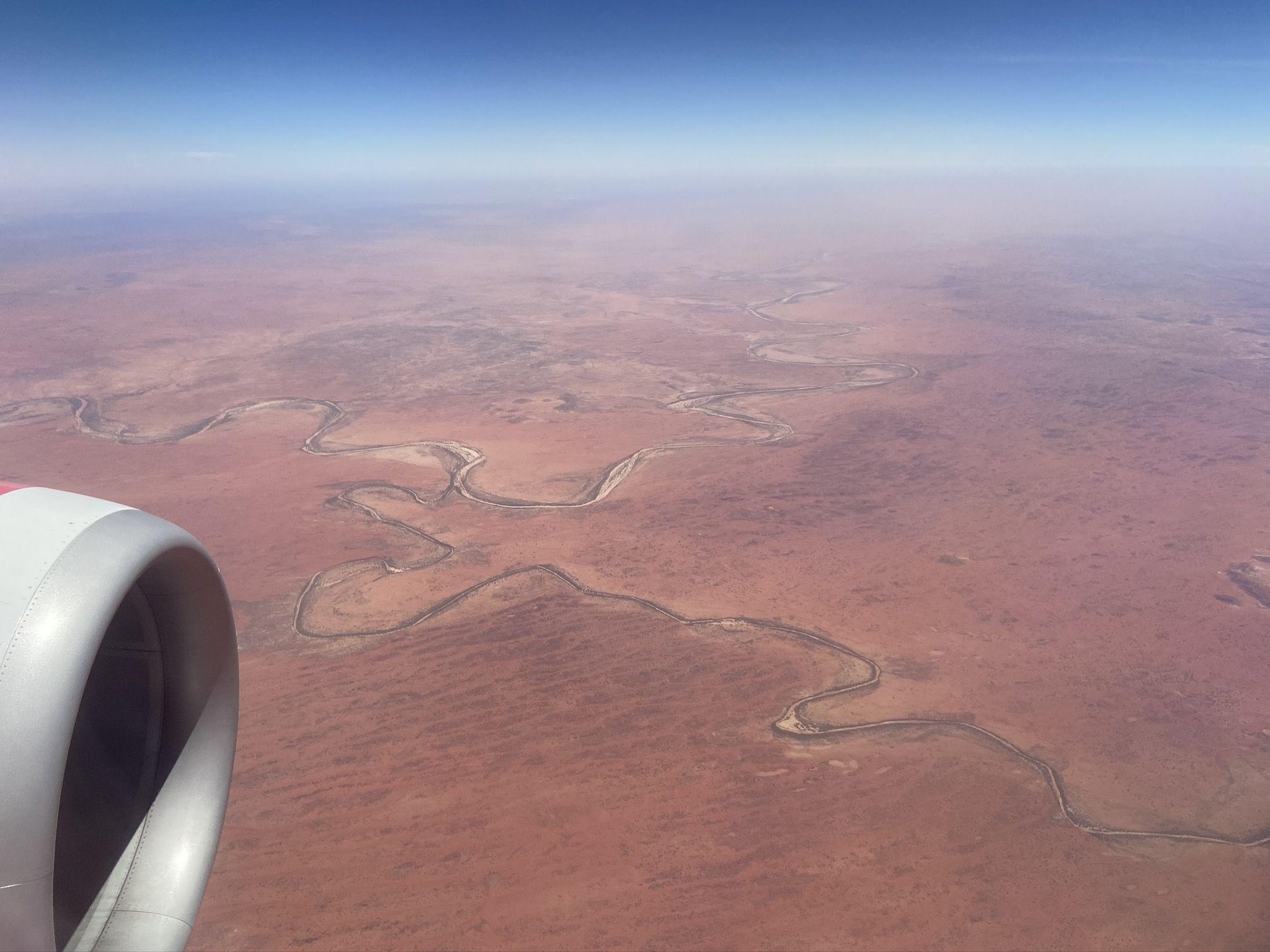 Flug von Adelaide nach Alice Springs