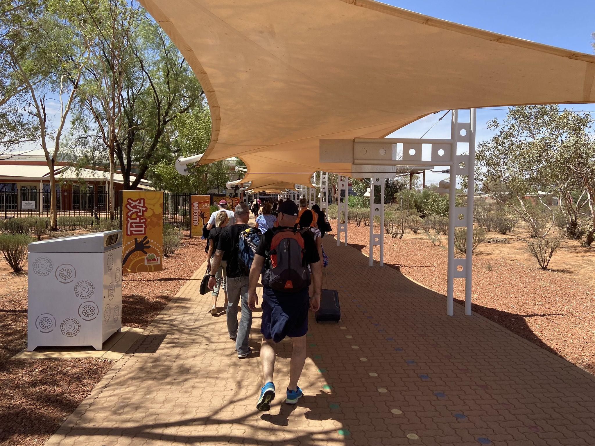 Ankunft in Alice Springs